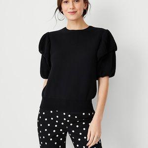 ANN TAYLOR - Ruffle Flounce Sleeve Sweater